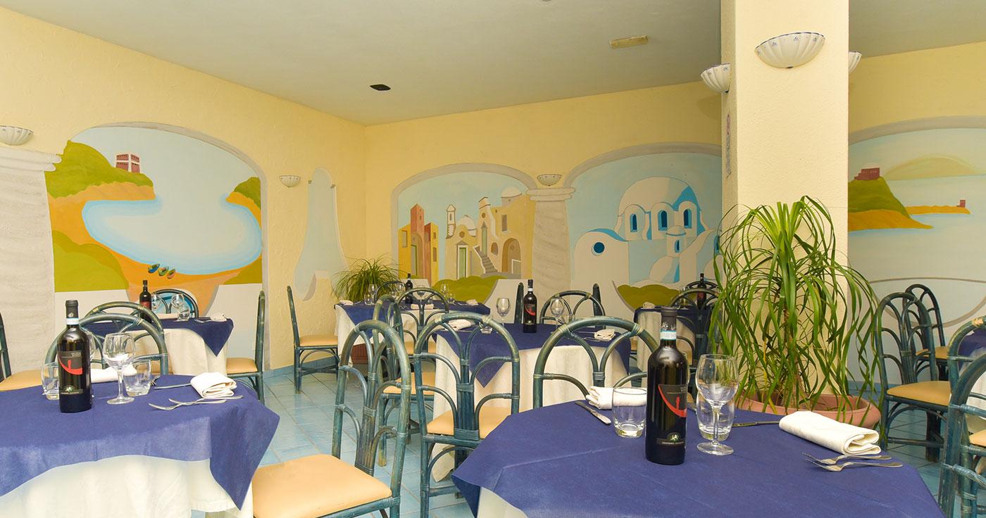 Sala ristorante Hotel il Nespolo Ischia